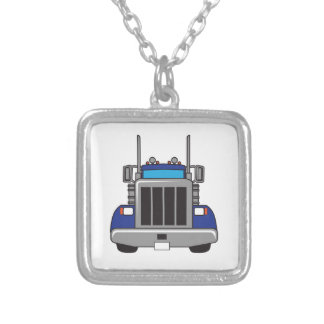 SEMI TRUCK FRONT PERSONALIZED NECKLACE