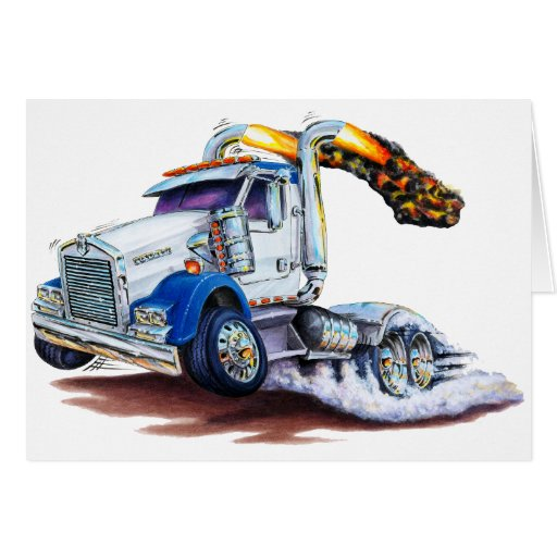 Semi Truck Greeting Cards