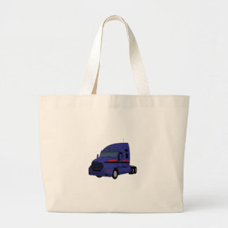 Semi Truck Large Tote Bag