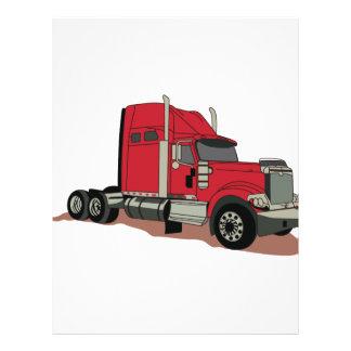 Semi Truck Letterhead