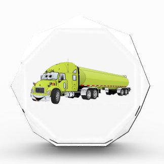 Semi Truck Light Green Tanker Truck Cartoon Awards