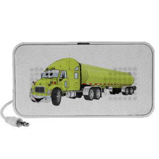 Semi Truck Light Green Tanker Truck Cartoon iPod Speaker