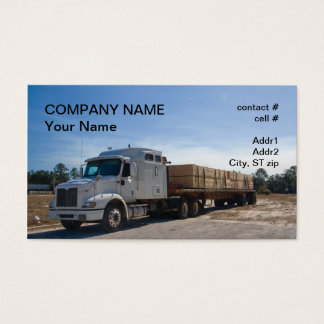semi truck lumber  transport business card
