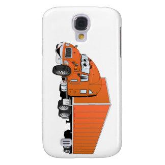 Semi Truck Orange Trailer Cartoon Galaxy S4 Cover