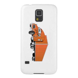 Semi Truck Orange Trailer Cartoon Galaxy S5 Case