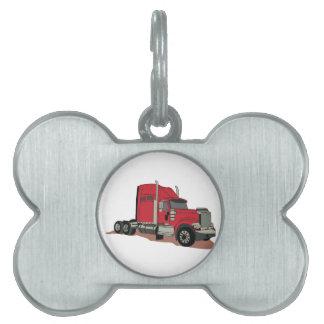 Semi Truck Pet Tag