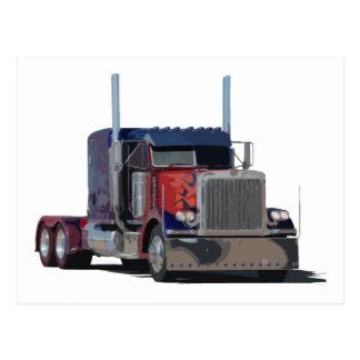 Semi truck postcard