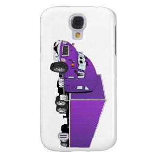 Semi Truck Purple Trailer Cartoon Galaxy S4 Case