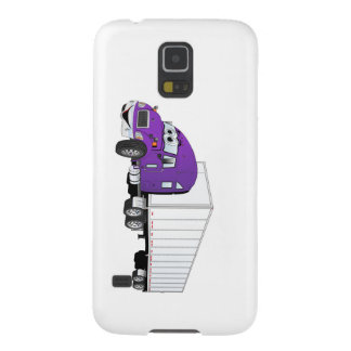 Semi Truck Purple White Trailer Cartoon Galaxy S5 Cover