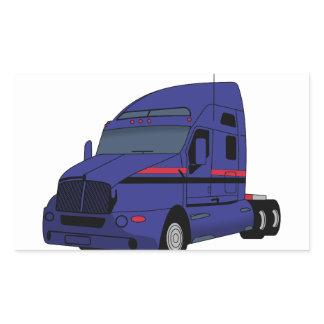 Semi Truck Rectangular Sticker