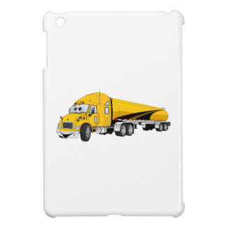 Semi Truck Roadway Tanker Yellow Cartoon iPad Mini Covers