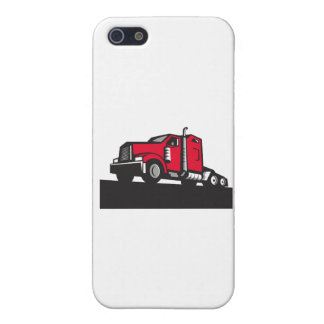 Semi Truck Tractor Low Angle Retro Case For iPhone SE/5/5s