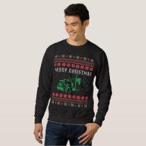 Semi Truck Ugly Christmas Sweater