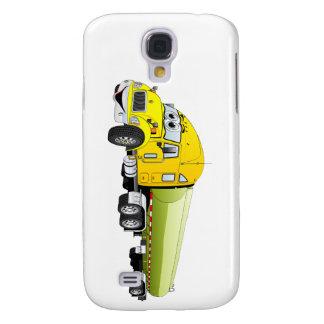 Semi Truck Yellow Green Tanker Trailer Cartoon Samsung Galaxy S4 Case
