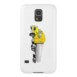 Semi Truck Yellow Silver Tanker Trailer Cartoon Galaxy S5 Case