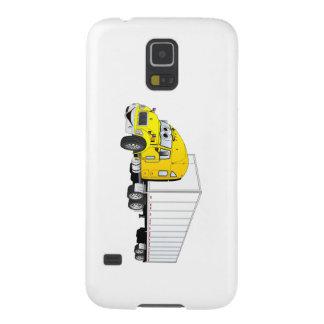 Semi Truck Yellow White Trailer Cartoon Galaxy S5 Cover