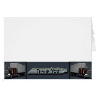 Semi Trucks on Steel Colored Stationery Note Card