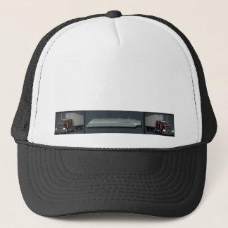 Semi Trucks on Steel Colored Trucker Hat