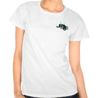 Semi verde del camión camiseta