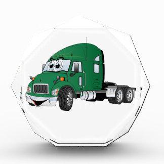 Semi verde del taxi del camión