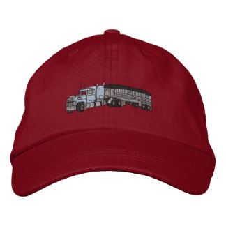 Semi with grain Trailer Embroidered Baseball Hat