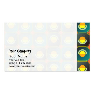 Semicircles and arcs pattern business card