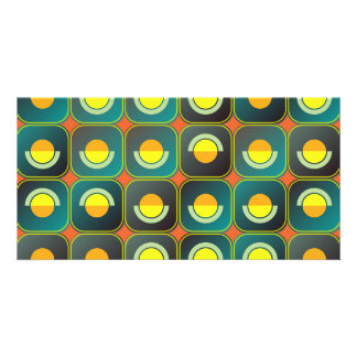 Semicircles and arcs pattern card