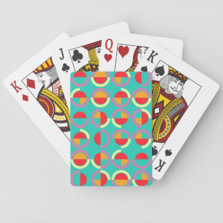 Semicircles and arcs pattern playing cards