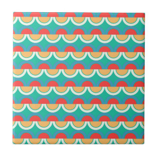 Semicircles and arcs pattern tile