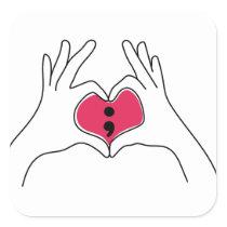 Semicolon Awareness Sticker