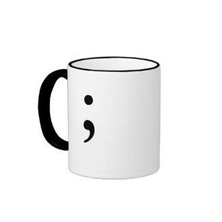 Semicolon  (B&W) Ringer Mug