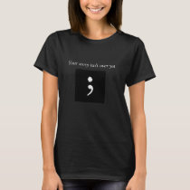 Semicolon black t-shirt