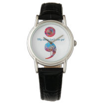 "Semicolon; Bubbles Watch: ""My story isn't..."" Wristwatch"