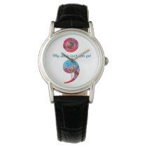 """Semicolon; Bubbles Watch: """"My story isn't..."""" Wristwatch"""