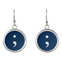 Semicolon Earrings