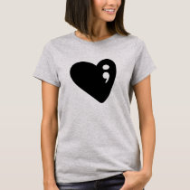 Semicolon Heart | Mental Health Awareness T-Shirt