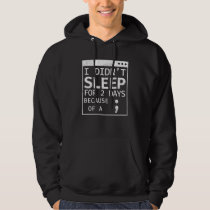Semicolon Hide And Seek Champion Programmer Coding Hoodie