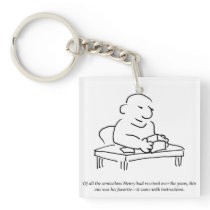 Semicolon Instructions Keychain