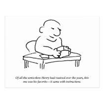 Semicolon Instructions Postcard