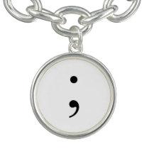 semicolon jewelry. charm bracelet