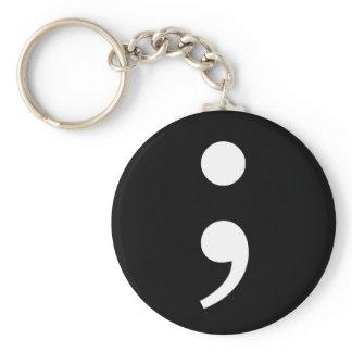 Semicolon Keychain