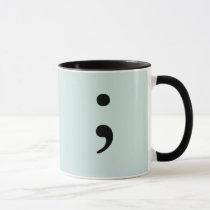 Semicolon  (Light Teal) Mug
