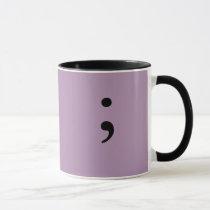 Semicolon (Lilac) Mug