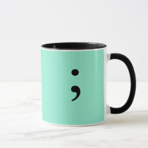 Semicolon (Lime) Mug