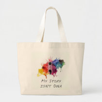 Semicolon- My Story isnt Over Large Tote Bag