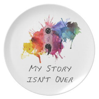 Semicolon- My Story isnt Over Plate