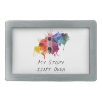 Semicolon- My Story isnt Over Rectangular Belt Buckle