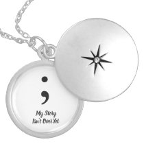Semicolon - My Story Isn't over yet Locket Necklace