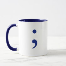 Semicolon - Navy Blue Mug