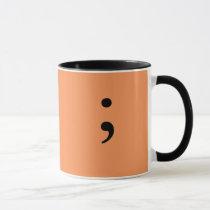 Semicolon (Orange) Mug